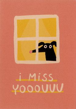 "Slinga: Postkarte ""I miss yooouuu"""