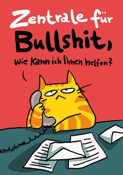 "Postkarte ""Zentrale für Bullshit"""