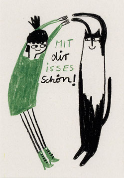 "Slinga: Postkarte ""Mit dir isses schön"""