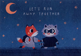 """Paraply: Print """"Let's Run Away Together"""""""