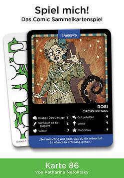 "Spielkarte ""Rosi"""
