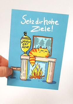 "Postkarte ""Setz dir hohe Ziele!"""