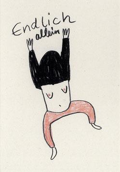"Slinga: Postkarte ""Endlich allein"""