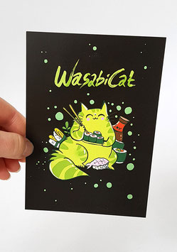 "Postkarte ""Wasabi Cat"""