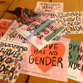 "Slinga: Sticker-Set ""Genderrolls"""