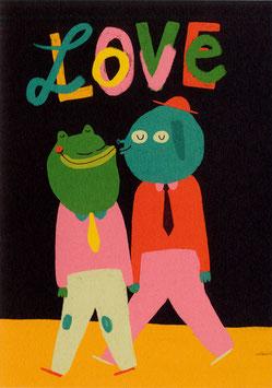 """Slinga: Postkarte """"LOVE"""" 2"""