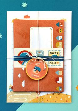 "Paraply: Briefpapier-Set ""Puppy Mail"""
