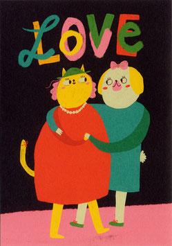 """Slinga: Postkarte """"LOVE"""""""