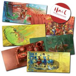 """Lisa Rau: Postkarten-Set Hael """"lang"""""""