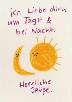 """Slinga: Postkarte """"Am Tage & bei Nacht"""""""
