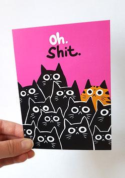 "Postkarte ""Oh Shit!"""