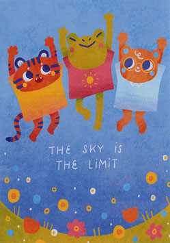 """Paraply: Print """"The Sky Is The Limit"""""""