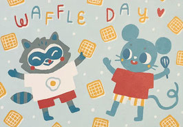 """Paraply: Print """"Waffle Day"""""""