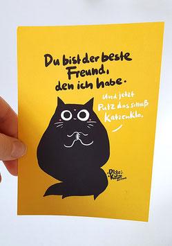 """Postkarte """"Du bist der beste Freund"""""""