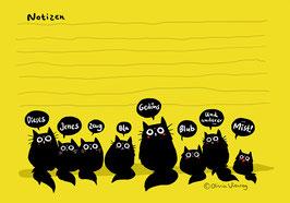 "Dicke-Katze-Notizblock ""Black Cats"""