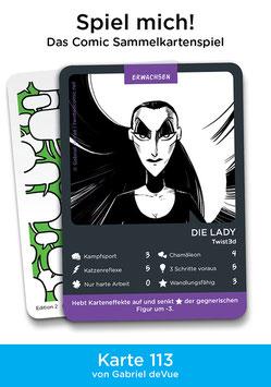 """Spielkarte """"Die Lady"""""""