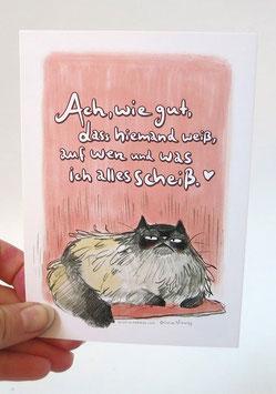 """Postkarte """"Ach, wie gut, dass niemand weiß"""""""