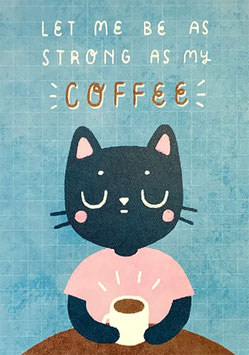 "Paraply: Print ""Strong as Coffee"""