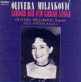 オリヴェラ・ミリャコヴィッチの芸術(一般市販CD)