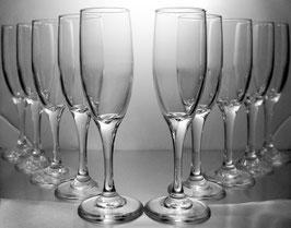 Engraved Monogram Flute Wedding Set (10)