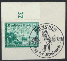 DR 704 gestempelt auf Briefstück