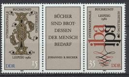 2697-2698 postfrisch Dreierstreifen (DDR)
