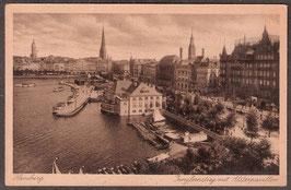 2....   (W-2000)    Hamburg    -Jungfernstieg mit Alsterpavillon-    (PK-00210)