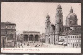 8....   (W-8000)   München   -Theatinerkirche und Feldherrenhalle-   (PK-00064)