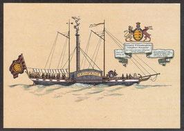 """Postkarte """"Königlich Württembergisches Dampfboot Kronprinz"""" (PK-Schiff-0006)"""