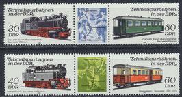DDR 2864-2867 postfrisch Dreierstreifen (2 Stück)