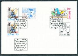 1124-1127 Ersttagsbriefe FDC (SE)