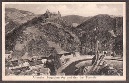 5350   (W-5486)    Altenahr    -Burgruine Are und den drei Tunnels-    (PK-00372)