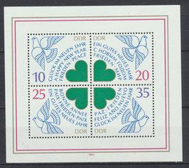 DDR Block 75, 2844-2847 postfrisch
