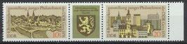 2153-2154 postfrisch Dreierstreifen (DDR)