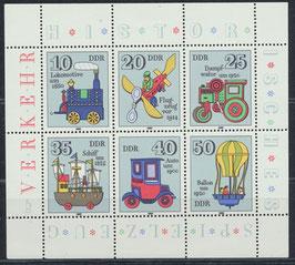 DDR 2566-2571 postfrisch Kleinbogen