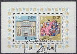 DDR Block 85, 3038-3039 gestempelt
