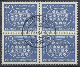 BRD 398 gestempelt Viererblock