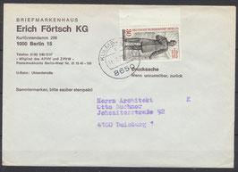 BERL 569 Einzelfrankatur mit Bogenrand links