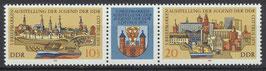 2343-2344 postfrisch Dreierstreifen (DDR)