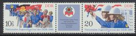 DDR 2878-2879 postfrisch Dreierstreifen