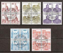 BERL 673-677 gestempelt Viererblocksatz