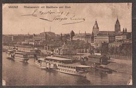 551..   (W-6500)   Mainz   -Rheinansicht mit Stadthalle und Dom-   (PK-00063)