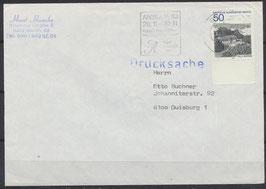 BERL 685 Einzelfrankatur mit Bogenrand unten