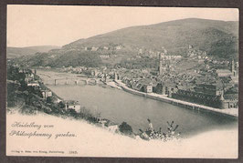 694..   (W-6900)    Heidelberg   -Heidelberg vom Philosophenweg gesehen-   (PK-00206)