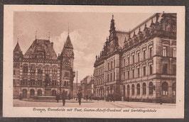 28...   (W-2800)   Bremen   -Domshaide mit Post; Gustav-Adolf-Denkmal und Gerichtsgebäude-  (PK-00290)