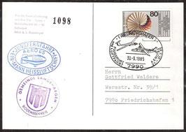 Jungfernfahrt Ein-Mann Heissluftschiff AERO 1985 (T-Luftschiff 0001)