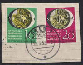 BRD 141-142 gestempelt auf Briefstück