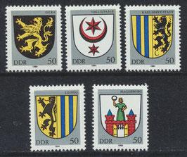 DDR 2857-2861 postfrisch