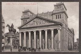 520..    (W-5100)  Aachen  -Theater u. Kaiser- Wilhelm- Denkmal-  (PK-00002)