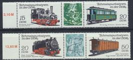 DDR 2792-2795 postfrisch Dreierstreifen (2 Stück)